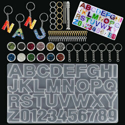 Alphabet Letter Number Silicone Mold Jewelry Making Epoxy Resin Mould Diy Crafts