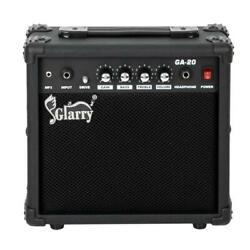 20w Amplifier Portable Guitar Amp For Electric Guitar Powerful Sound Black