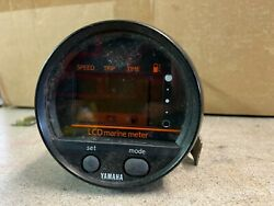 Yamaha Digital Speedometer W/ Round Plugold Style Fits 84and039 - 93and039