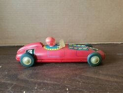 Vintage Marx Red Race Car Tin Litho Wind Up 3 Collectible Toy Great Shape