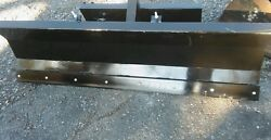 New Hydraulic 4' Mini Skid Steer Snow Plow Dingo Boxer Vermeer Ditch Witch Finn