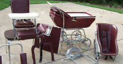 Vintage Wonder Chair Baby Carriage And Stroller Set. Slightly U, Attic Stored.