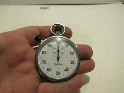 Vtg Hanhart 1/100 Stop Watch Lever 7 Jewel 125.021-wo Germany Clean Works