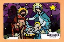 Collectible Walmart Card - Nativity Stained Glass - No Cash Value - Fd-23506