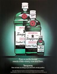 1988 Tanqueray Green Gin 3 Bottle Sizes Photo Need A Little Variety Print Ad