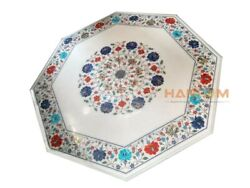 28 Marble Top Coffee Table Multi Stone Floral Inlay Interior Garden Decors W037