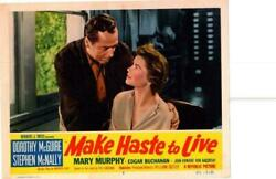Make Haste To Live 1954 Original Release Lobby Card Dorothy Mcguire ++++++