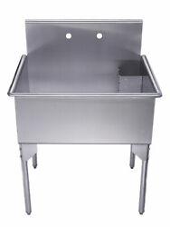 Whitehaus Whls3024-np 30 Brushed Stainless Steel Freestanding Utility Sink