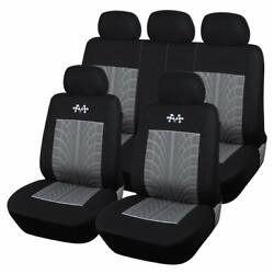 Autoyouth Full Set Of Car Seat Protector Car Decoration Gray And Black