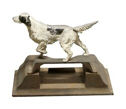 Vintage Cast Iron Pointing Setter Dog Door Stop