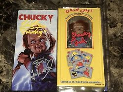 Childs Play Chucky Autographed Neca Clothed 8andrdquo Action Figure Ed Gale Tom Holland