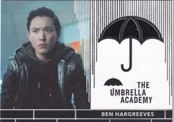 Umbrella Academy Trading Cards Rc6 Costume Material Worn By Justin H. Min