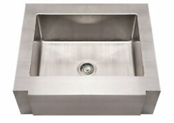 Whitehaus Whncmap3026 Stainless Steel 30 Single Apron Front Kitchen Sink