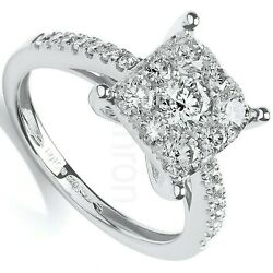 Certificated Diamond Engagement Ring 18k White Gold 1.00ct Size J - Q