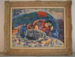 Andrandeacute Raffin 1927-2005 French Post Impressionist Oil Painting