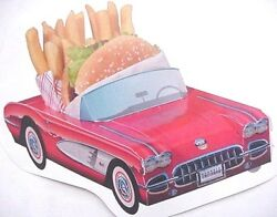 54 Assorted Classic Cardboard Cars Party Planner Kids Food Box Tray Favor C