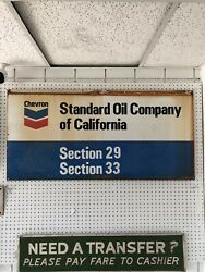 Vintage Double Sided Porcelain Sign Chevron Standard Oil Company 4andrsquox23 1/2andrdquo