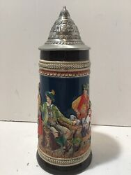 Gerz West Germany Beer Steins 11.5 Inches Tall
