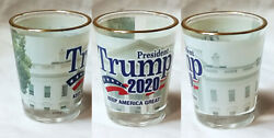 DONALD TRUMP 2020 KEEP AMERICA GREAT PRESIDENT SHOT GLASS NEW 99109 $9.95