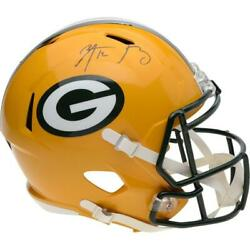 Aaron Rodgers Green Bay Packers Autographed Riddell Speed Replica Helmet Nfl