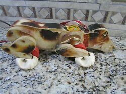 Vintage Fisher Price Snoopy Sniffer Dog Pull Toy Wood 181 1961