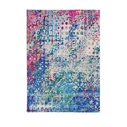5and039x7and0393 The Peacock Sari Silk Colorful Hand Knotted Oriental Rug R59244
