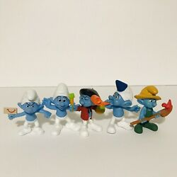 Smurf 5 Figures 2013- Farmer,party Planner,corey,grouchy