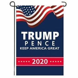 Trump Pence 2020 Flag Yard Sign Banner Garden Flag for Home Decorative Lawn Sign