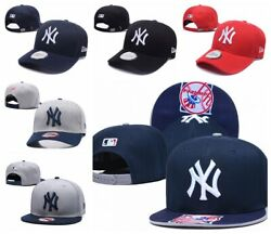 New MLB Baseball Cap Flat Bill Snapback Hats Unisex