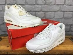 Nike Mens Air Max 90 White Leather Mesh Trainers Grade B Rrp Andpound115 Various Sizes
