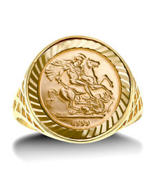 St George Ring Solid 9 Carat Yellow Gold 10th Kruger British Made Hallmarked