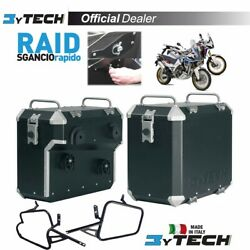 Suitcases Mytech Raid Black 47l +41l And Frames Africa Twin 1000 Adv Sports