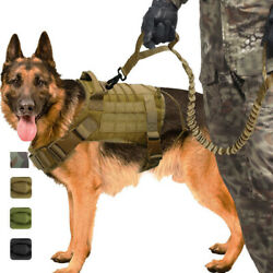 Military K9 Training Vest Tactical Dog Harness Molle Canine Harness Dog Vest US