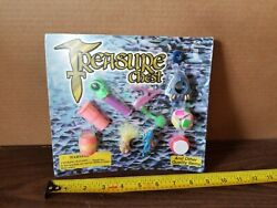 Treasure Chest Toy Mini Gumball Vending Machine Prize Display Card Poster