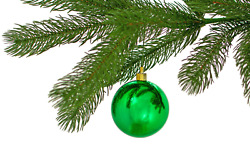 2in Large Shiny Green Christmas Ball Ornaments Shatterproof Plastic 70mm