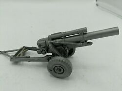 Vintage Marx Desert Fox Gray Howitzer Spring Action Cannon