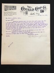 1905 Used Letterhead Canfield Coop Co Binghamton Ny Illus Chicken Coop