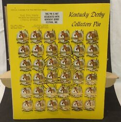 113th Kentucky Derby Pin May 21987 Churchill Downs Store Display Lot Of 36