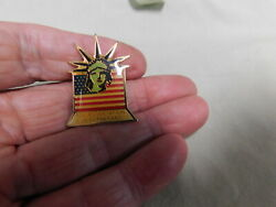 Vintage Flag And Stature Of Liberty Aid Assn For Lutherans Lapel Pin