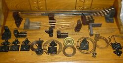 Assorted Lot Of Antique / Old Clock Rod And Round Gong Chimes Parts