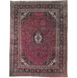 Fascinating 10x13 Authentic Hand Knotted Semi-antique Rug B-71110