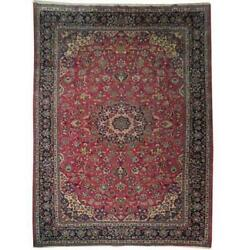 Fascinating 10x13 Authentic Hand Knotted Semi-antique Rug B-71109