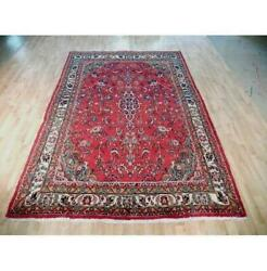 7x10 Authentic Hand Knotted Semi-antique Rug B-72098