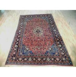 6x10 Authentic Hand Knotted Semi-antique Rug B-72077