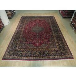 10x13 Authentic Hand Knotted Semi-antique Wool Rug Red B-73509