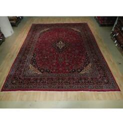 10x13 Authentic Hand Knotted Semi-antique Wool Rug Red B-73520
