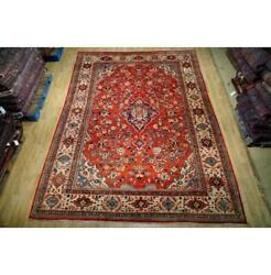 9x13 Authentic Hand Knotted Semi-antique Wool Rug Red B-74647