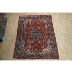 10x7 Authentic Hand Knotted Semi-antique Rug B-74760