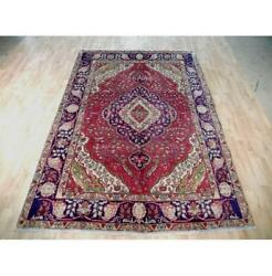 7x10 Authentic Hand Knotted Semi-antique Rug B-72078