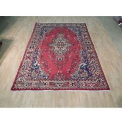 7x10 Authentic Hand Knotted Semi-antique Rug B-72016